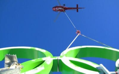 How North Construction Uses Helicopter Logistics in Major Projects