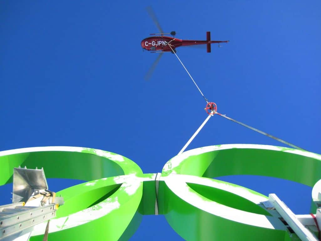 North Construction Vancouver - Helicopter logistics